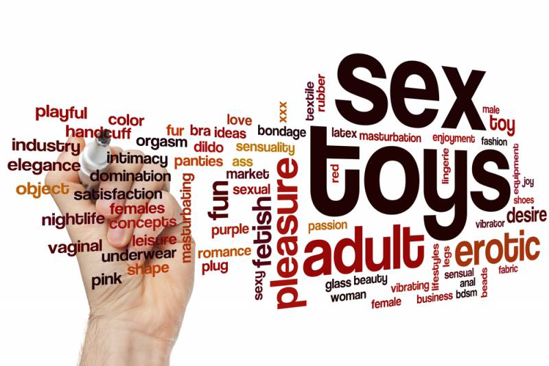 Adult sex toy banner